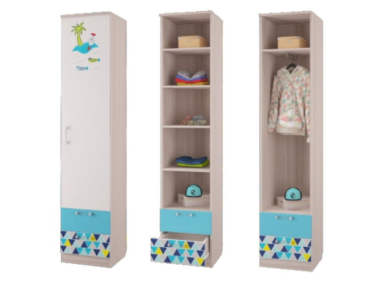 Шкаф для белья с ящиками 451х446х2136 мм