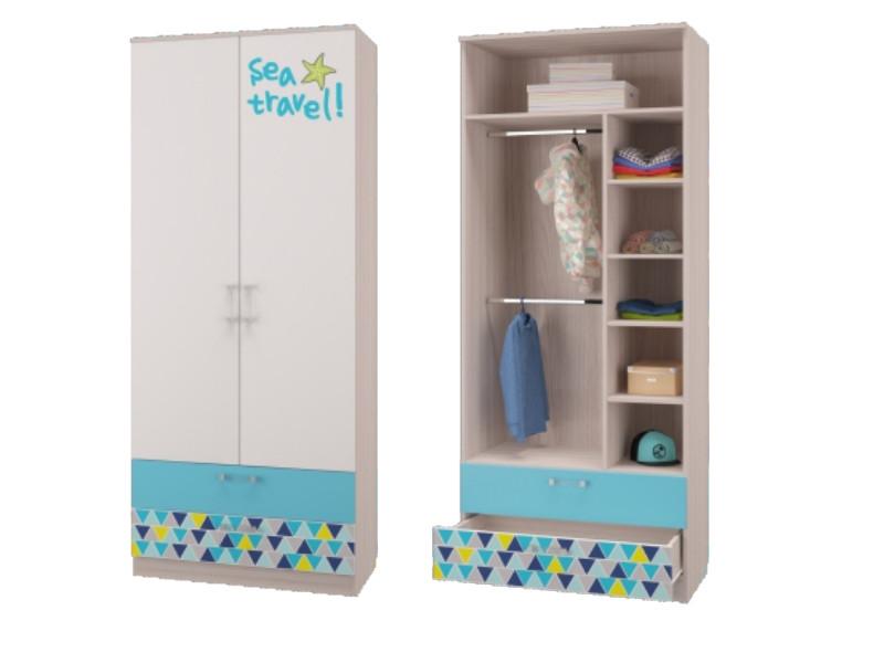 Шкаф для одежды с 2-мя ящиками 901х446х2136мм