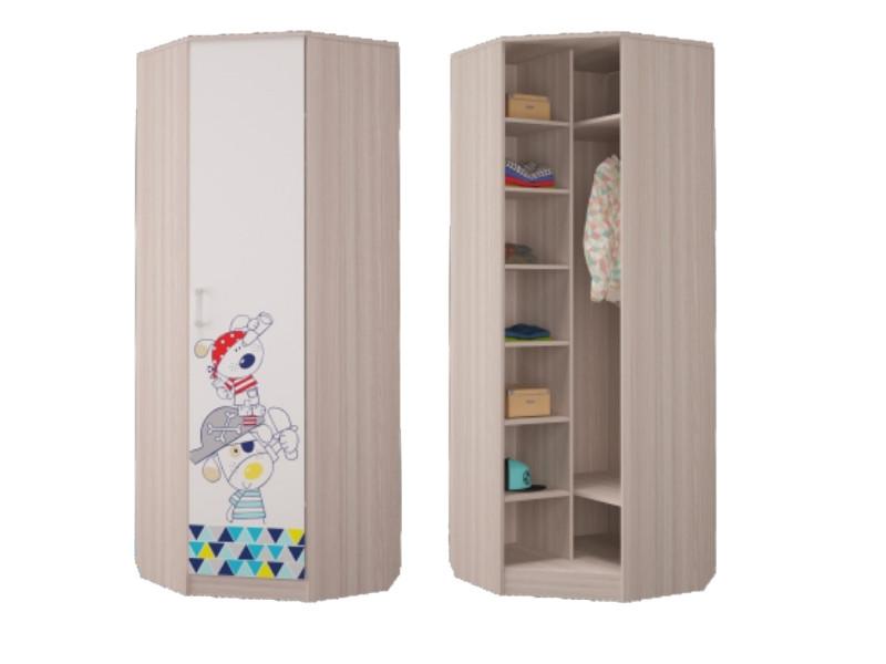 Шкаф для платья и белья угловой 761х761х2136 мм