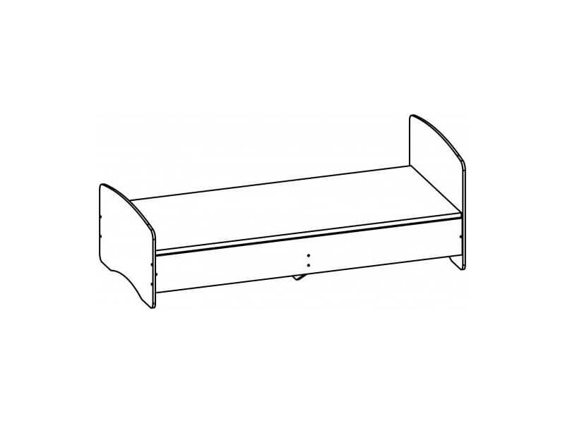 Кровать одинарная 750х952х2032 мм спальное место 900-200