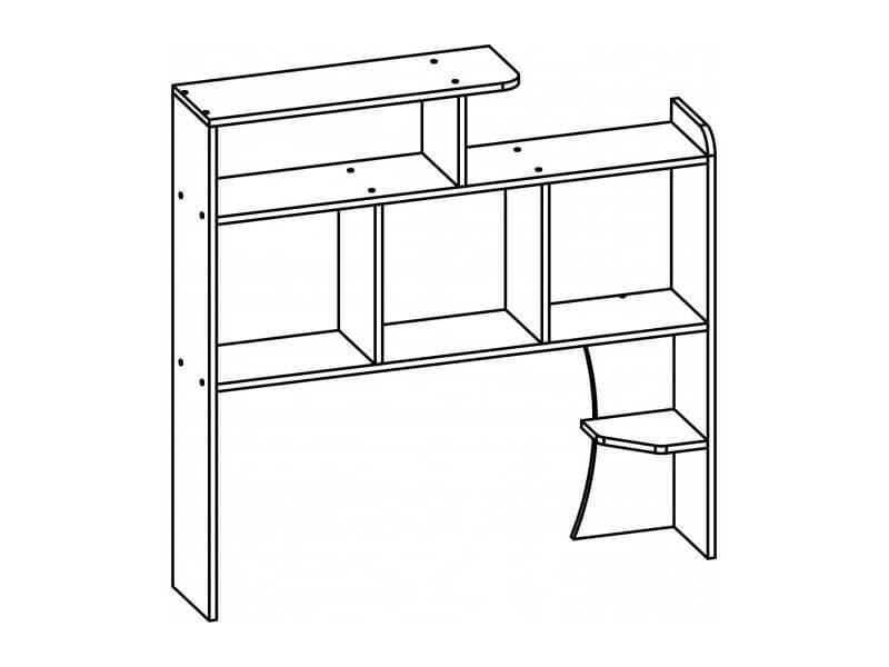 Полка надстройка для стола 1010х1110х240 мм
