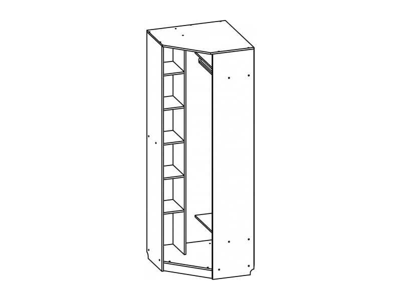 Шкаф угловой 2200х762х762 мм