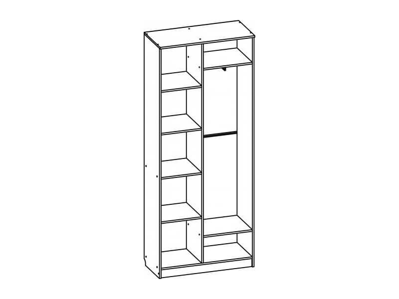 Шкаф двухстворчатый 2200х900х420 мм