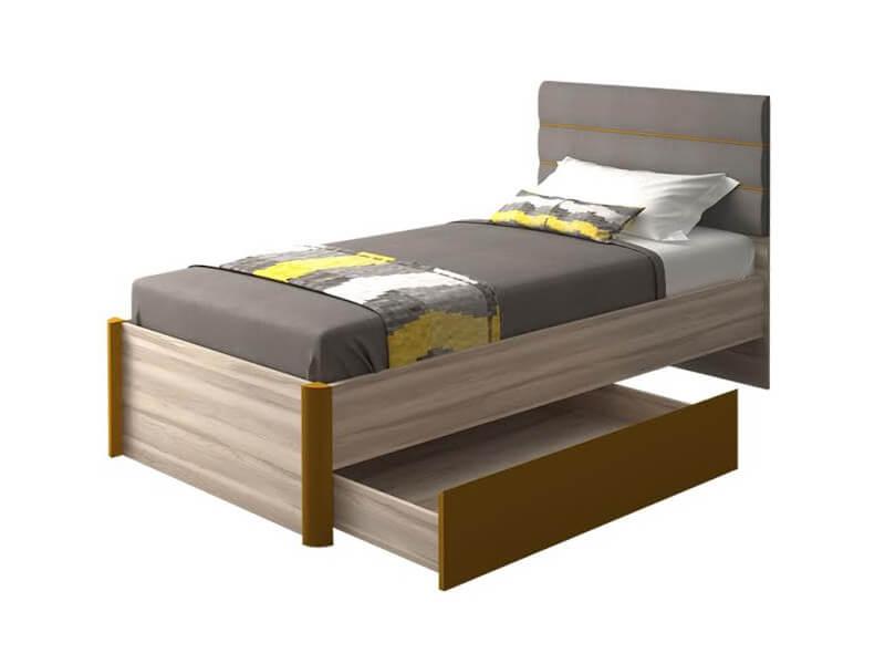 Кровать одинарная 786 900х1072х2088 мм Сп. место 900х2000 мм