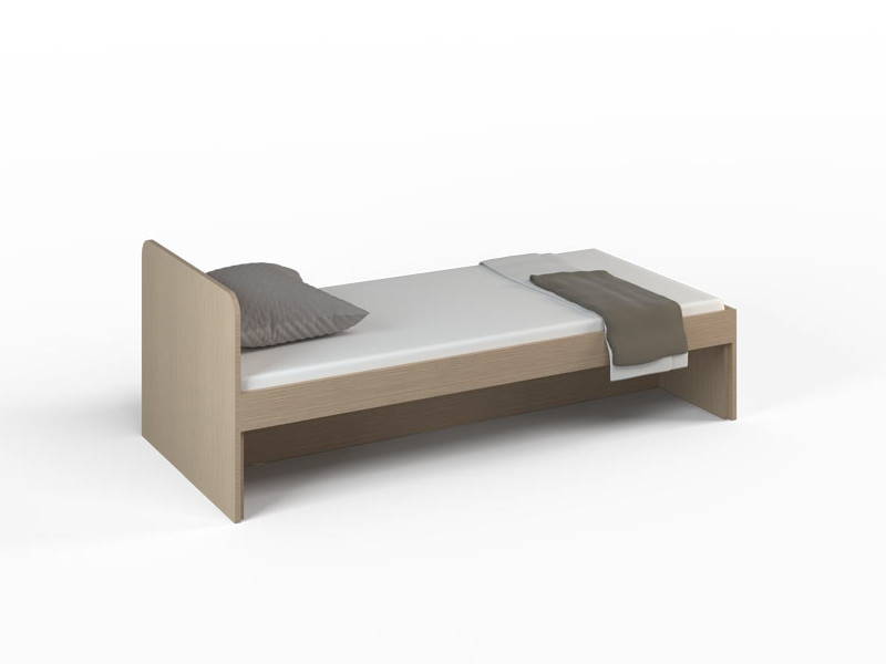 Кровать без ящиков Ясень Шимо 1652х756х602 ДМ-К1-4-1
