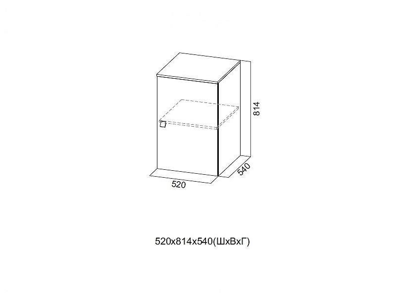 Шкаф верхний 520х814х540