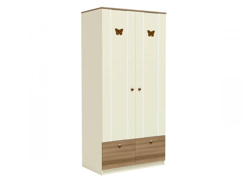 Ю5 Шкаф для одежды 1006х580х2116 2 полки штанга ящик