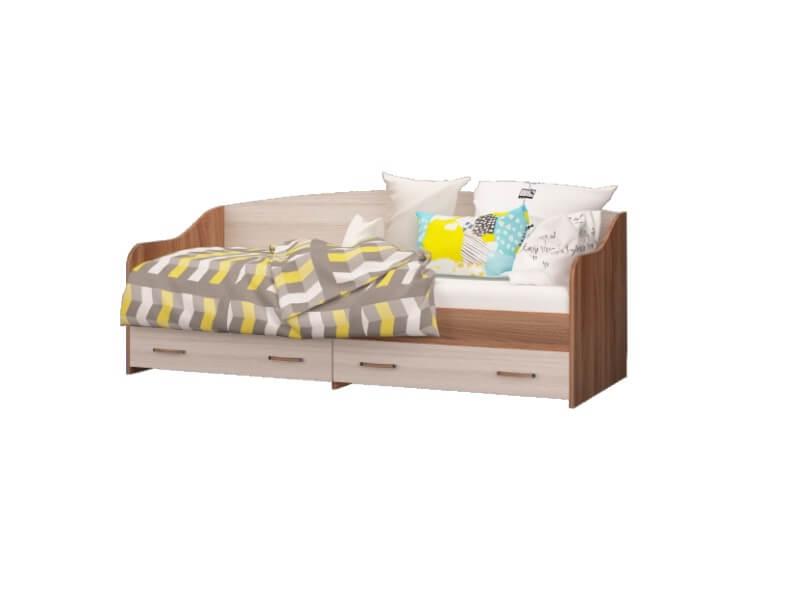 Кровать-софа с 2-мя ящиками 2052х850х820 спальное место 2000х800