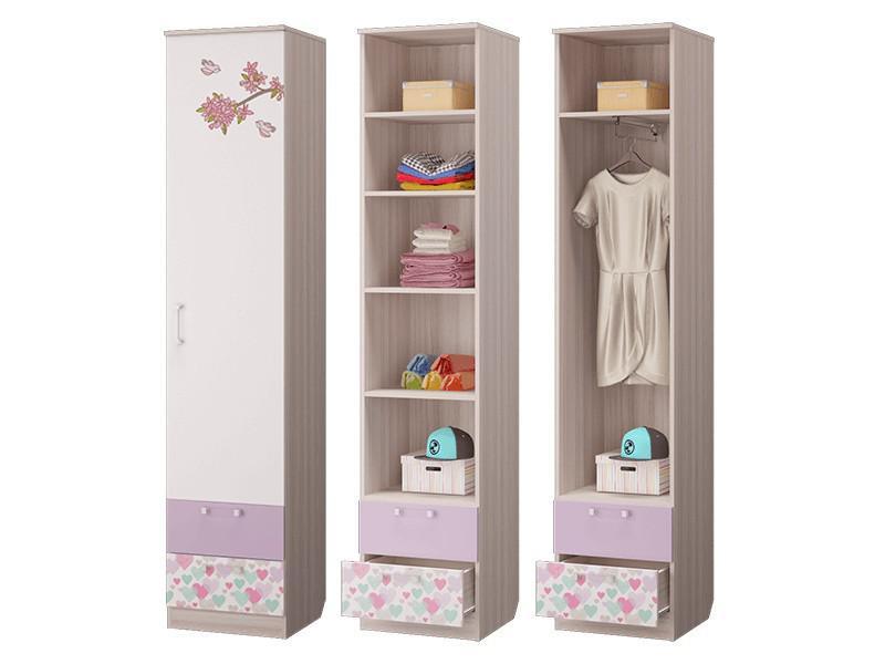 Шкаф для белья с 2-мя ящиками 451х446х2136 мм