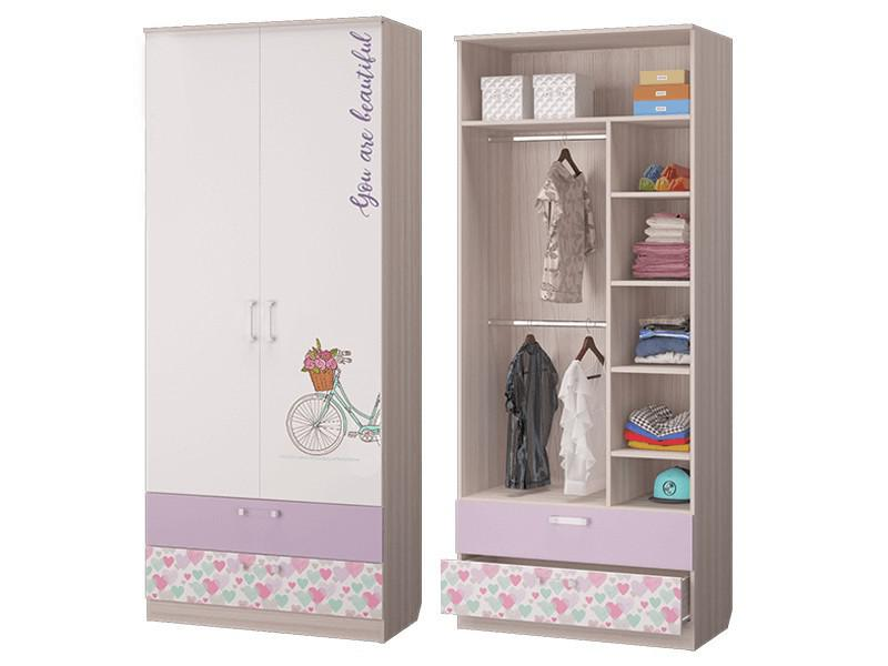 Шкаф для одежды с 2-мя ящиками 901х446х2136 мм