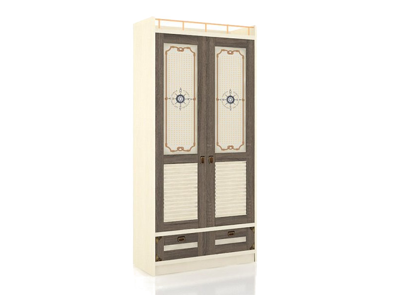Шкаф двухдверный ЛД.509010.000 918х1984х447