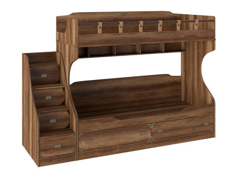 Кровать двухъярусная с приставной лестницей СМ-250.11.12