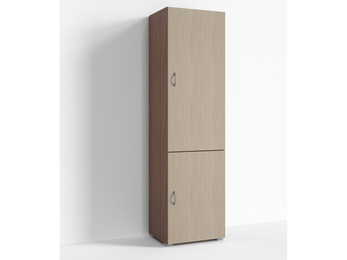 Шкаф 2 двери Г-ШС-1-2 500-400-1820 Ясень шимо темн-ясень шимо светлый