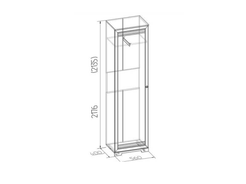 Шкаф для одежды и белья 11 560х2180х400
