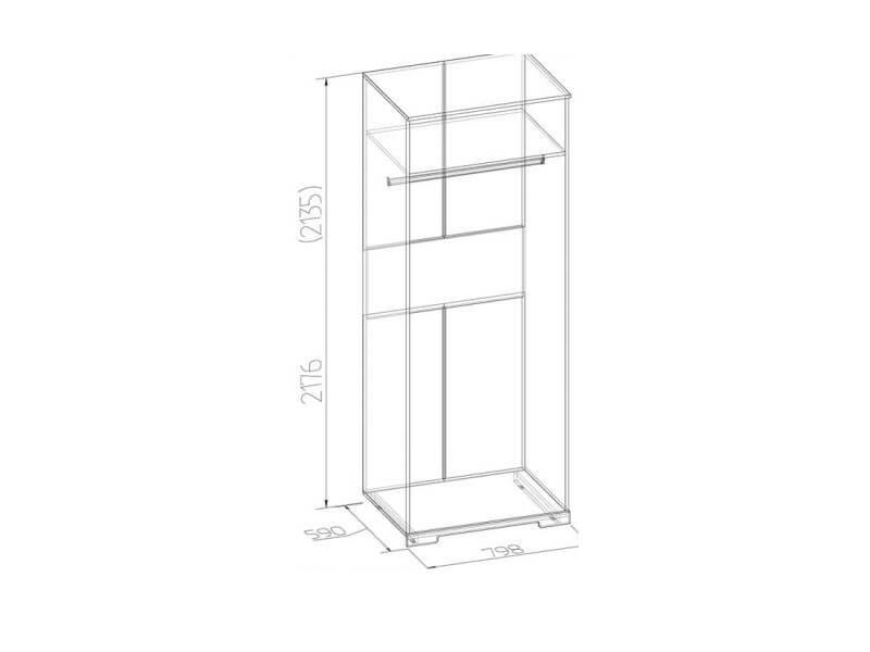 Шкаф для одежды 12 800х2180х590