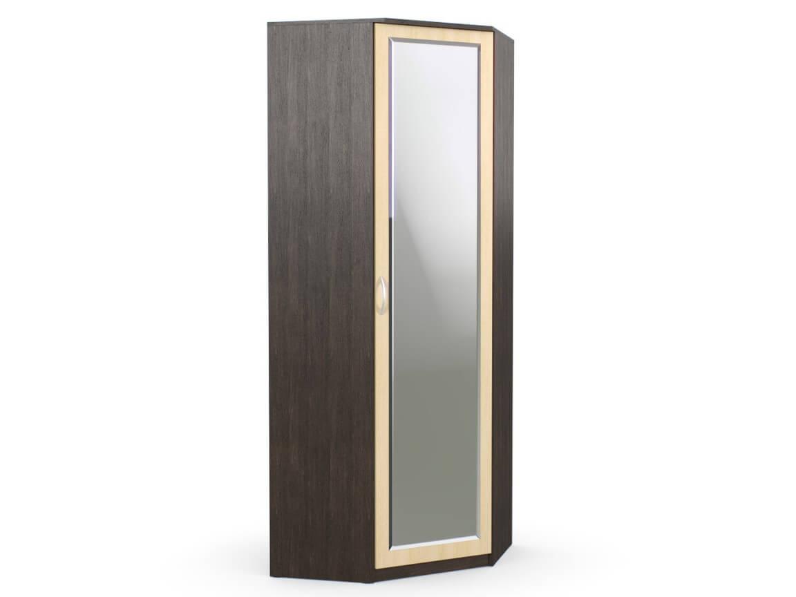 Шкаф угловой 866х866х2300 с зеркалом венге