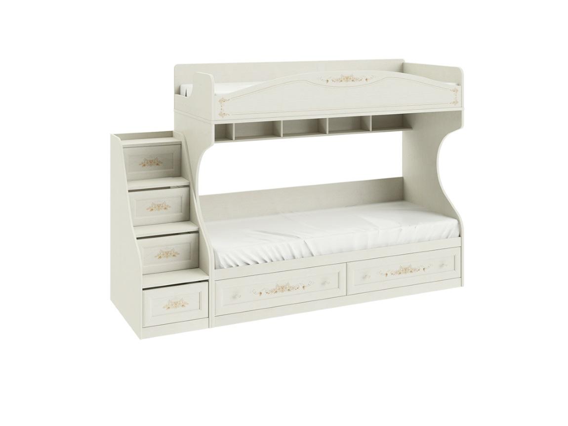 Двухъярусная кровать с лестницей 1711х2044х839 спальное место 80х200