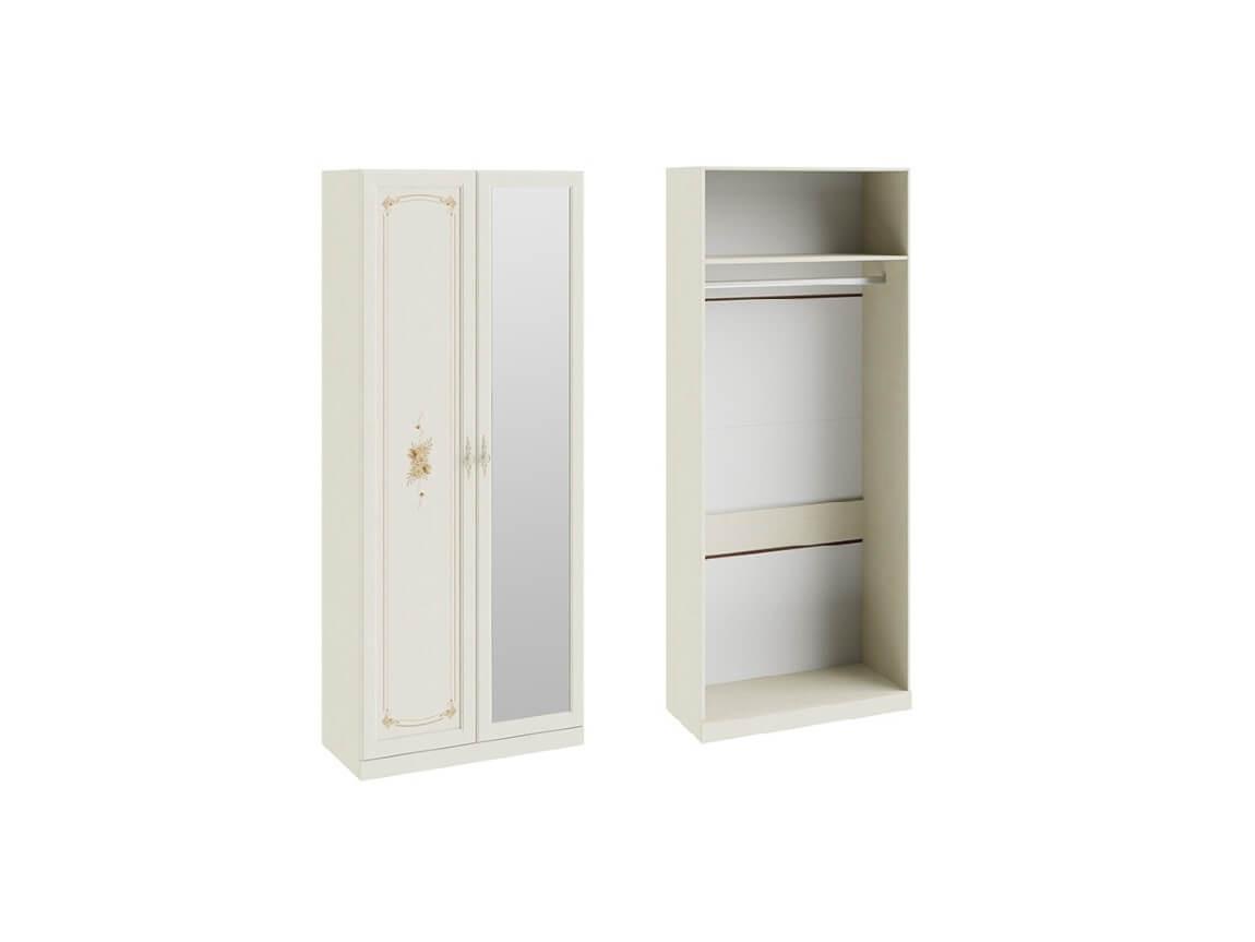 Шкаф для одежды с 1-ой глухой и 1-ой зеркальной дверями СМ-235-22-03 2161х895х429