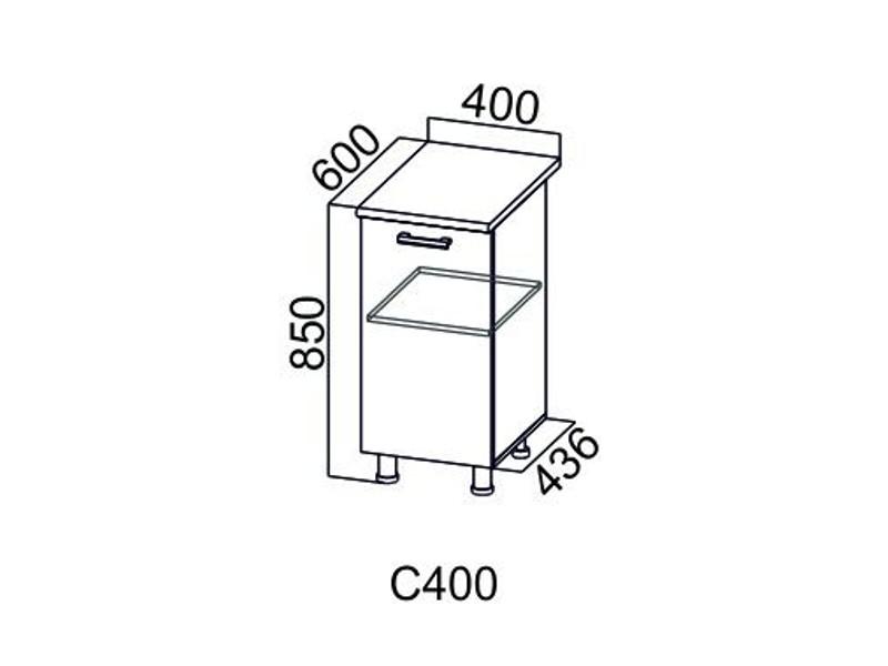 Дополнительный модуль Стол-рабочий 400 С400 850х400х436-600 мм