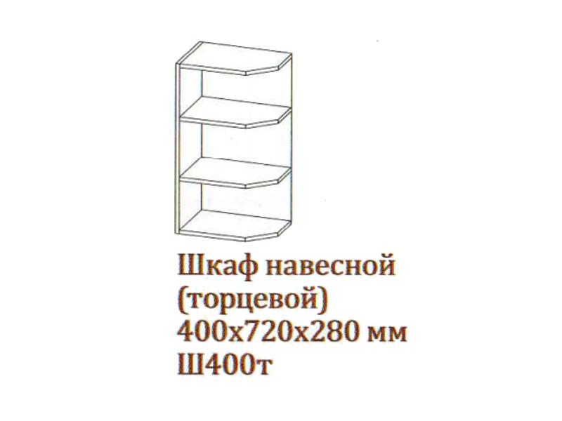 Шкаф навесной 400-720 торцевой Ш400т-720 400х720х280 Серый