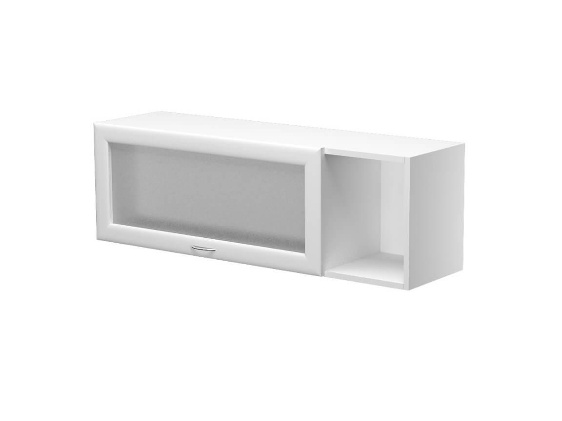 Шкаф навесной с подъёмной дверкой со стеклом правый ШН.110.3ГП 1100х300х360