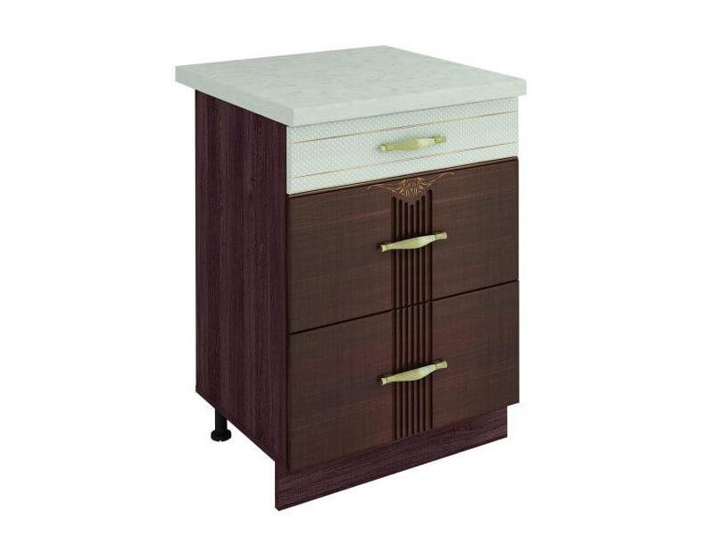 Стол с 3 ящиками-метабоксы 11.66 600х530х820 без столешницы