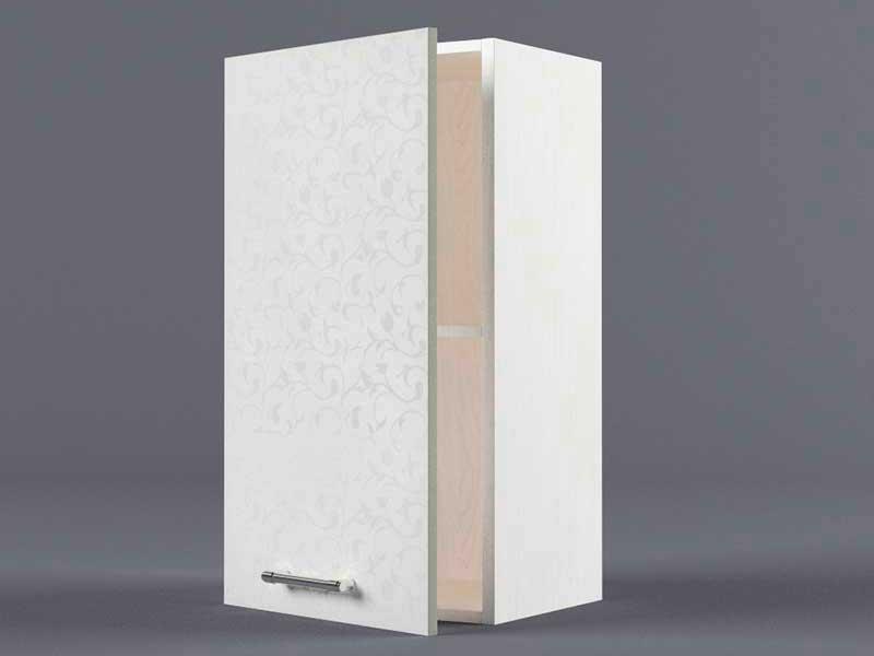 Шкаф навесной В400 1дв 720х400х300 Белые цветы