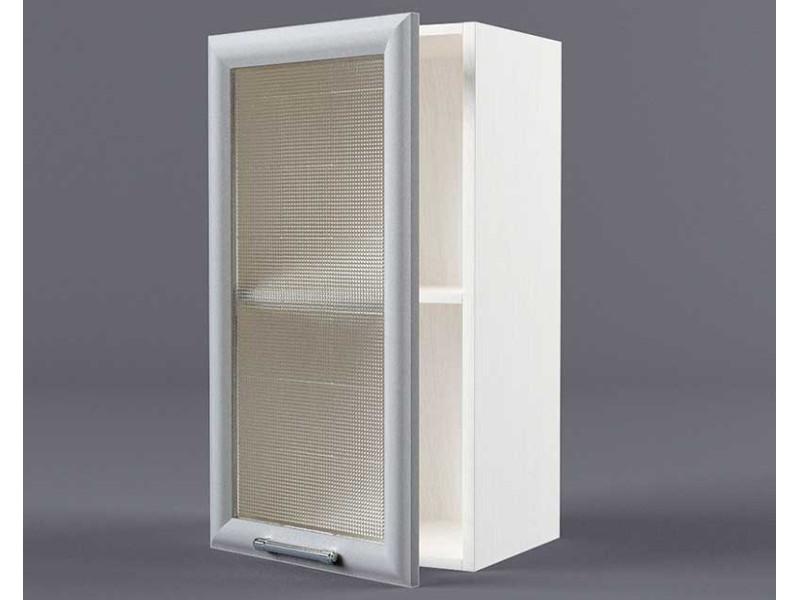 Шкаф навесной В300 1дв ст рамка серая 720х300х300