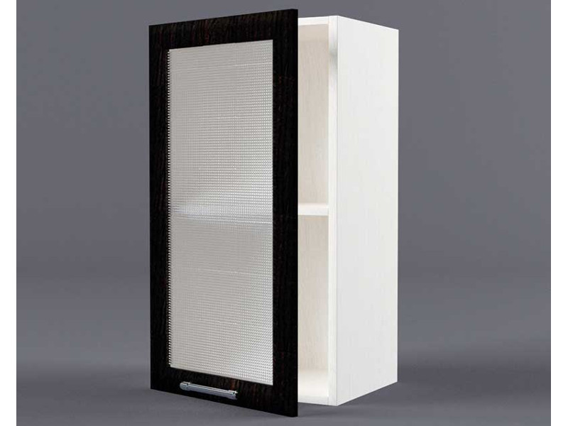 Шкаф навесной В300 1дв ст рамка венге 720х300х300