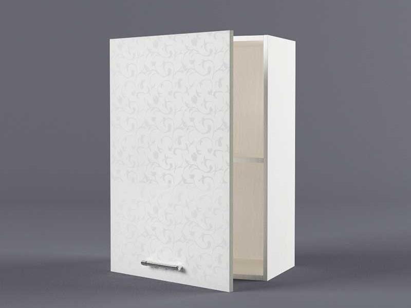 Шкаф навесной В500 1дв 720х500х300 Белые цветы