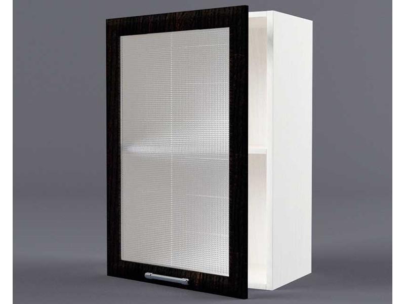 Шкаф навесной В500 1дв ст рамка венге 720х500х300