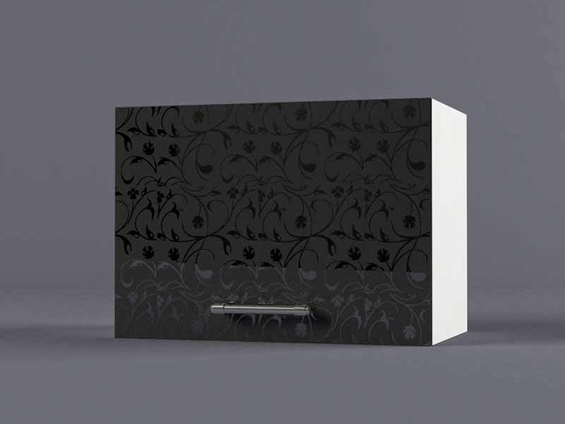 Шкаф навесной В500 1газ 360х500х300 Черные цветы