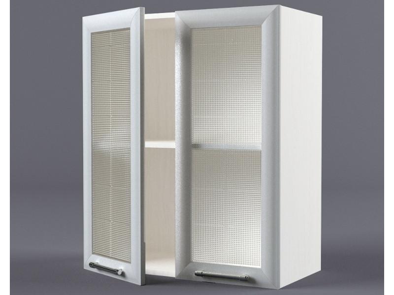 Шкаф навесной В600 2дв ст рамка серая 720х600х300