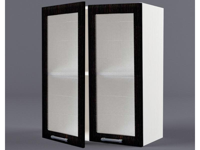 Шкаф навесной В600 2дв ст рамка венге 720х600х300