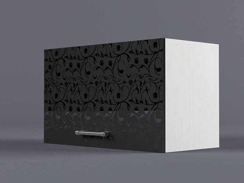 Шкаф навесной В600 1газ 360х600х300 Черные цветы