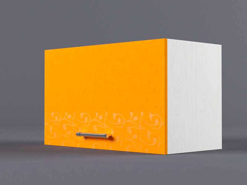 Шкаф навесной В600 1газ 360х600х300 Оранжевый