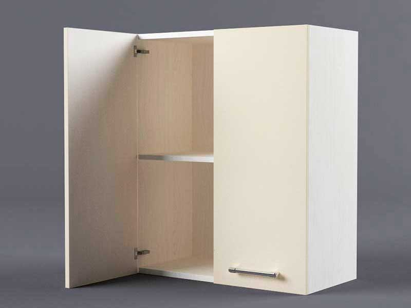 Шкаф навесной В600 2дв 720х600х300 Бежевый