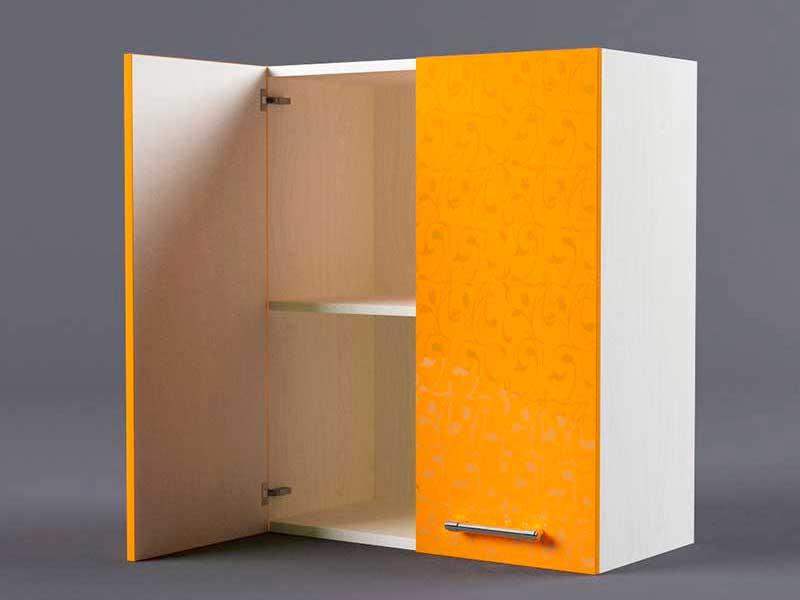 Шкаф навесной В600 2дв 720х600х300 Оранжевый