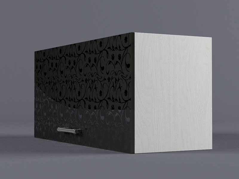 Шкаф навесной В800 1газ 360х800х300 Черные цветы