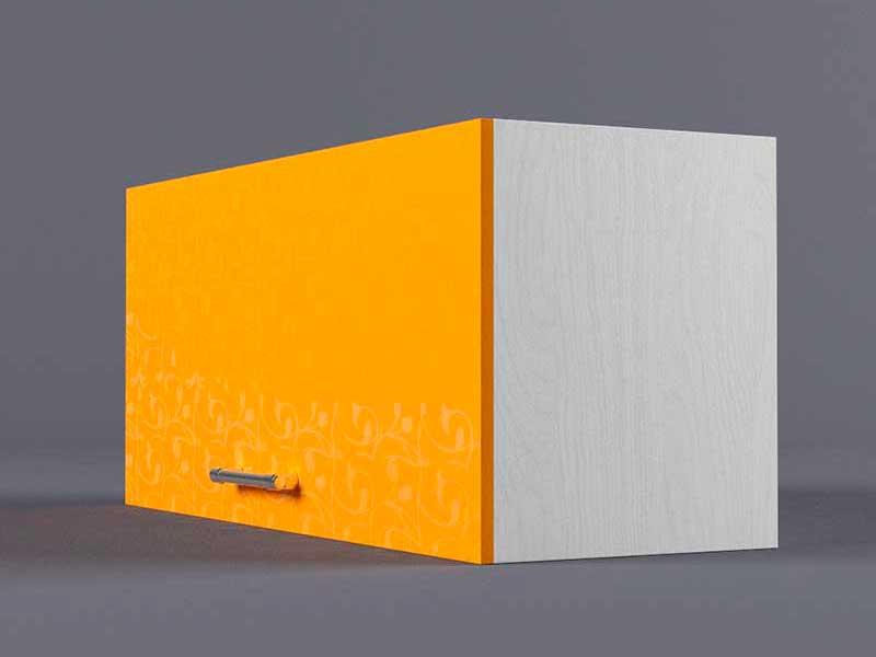 Шкаф навесной В800 1газ 360х800х300 Оранжевый