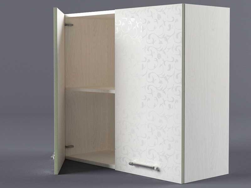 Шкаф навесной В800 2дв 720х800х300 Белые цветы