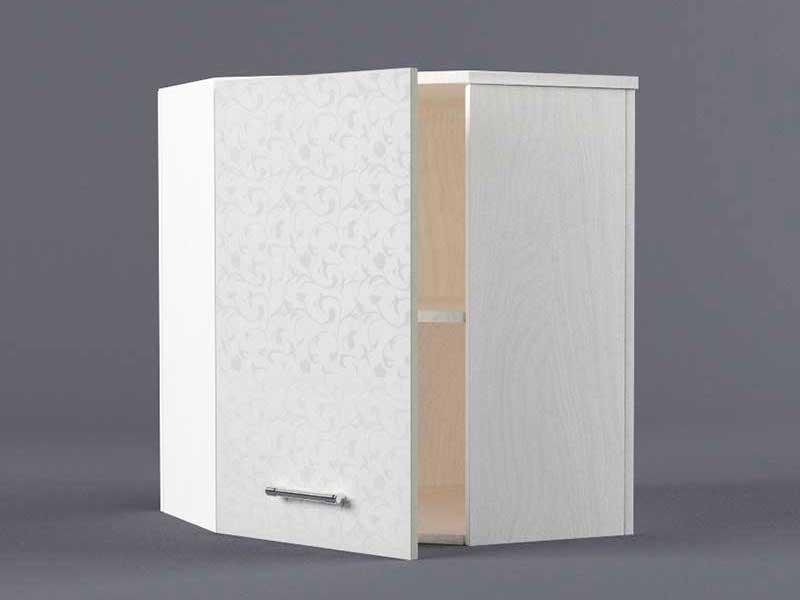 Шкаф навесной ВУ600х600 1дв 720х600-600х300 Белые цветы