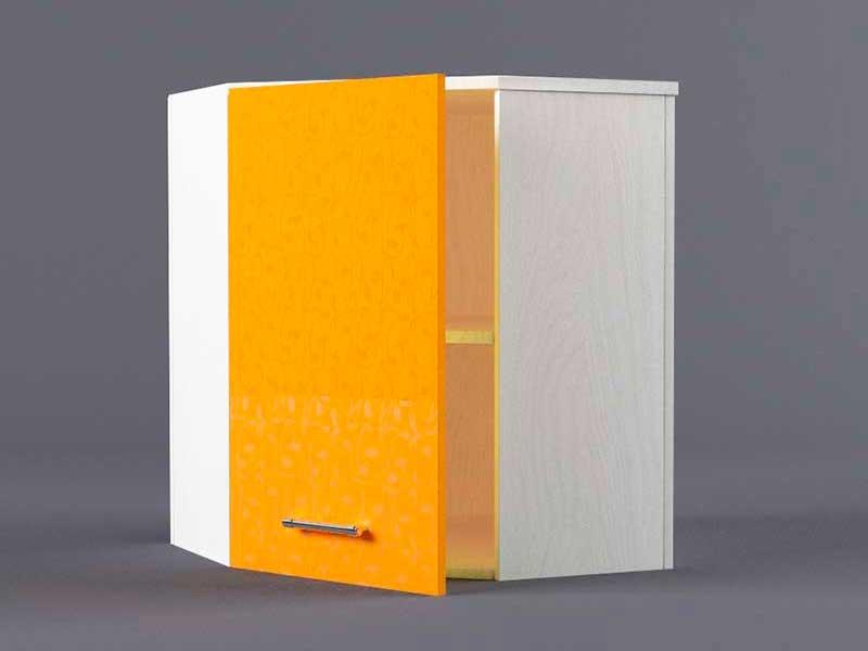 Шкаф навесной ВУ600х600 1дв 720х600-600х300 Оранжевый