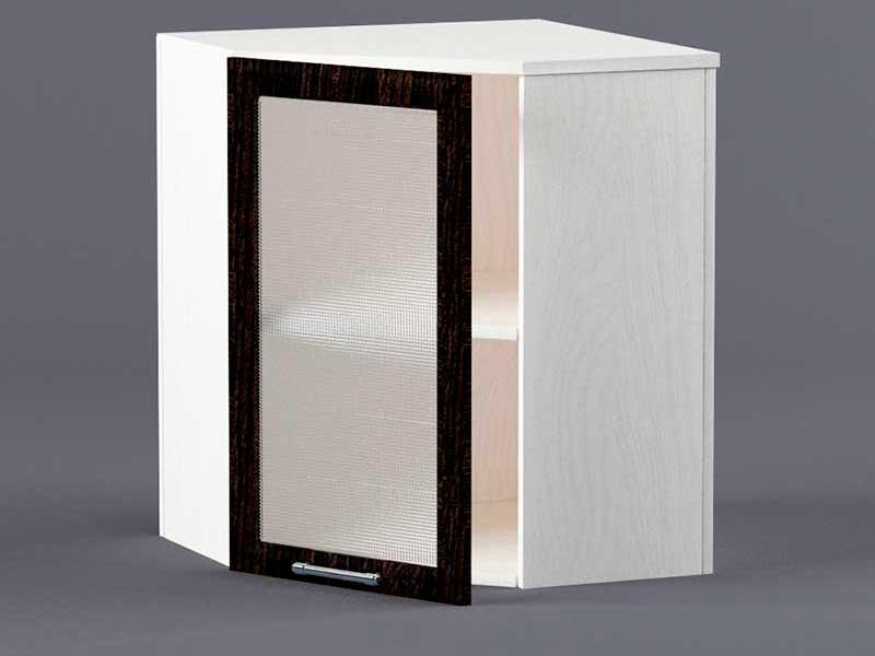 Шкаф навесной ВУ600х600 1дв ст рамка венге 720х600-600х300