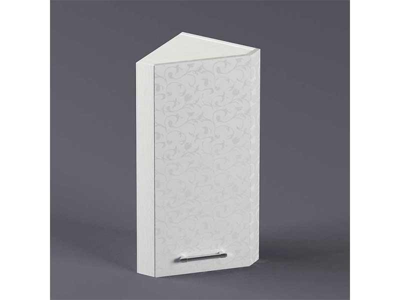 Шкаф навесной ВУЗ300 1дв скос левый 720х300х300 Белые цветы