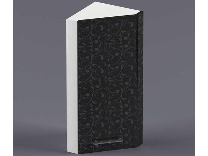 Шкаф навесной ВУЗ300 1дв скос левый 720х300х300 Черные цветы