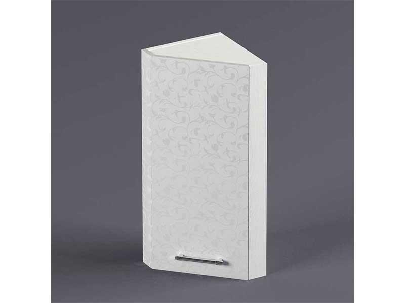Шкаф навесной ВУЗ300 1дв скос правый 720х300х300 Белые цветы