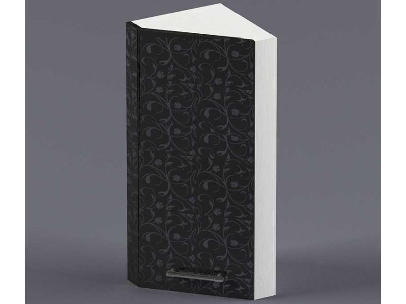 Шкаф навесной ВУЗ300 1дв скос правый 720х300х300 Черные цветы
