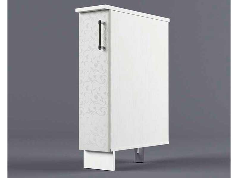 Шкаф напольный Н200 1дв бутылочница 850х200х600 Белые цветы