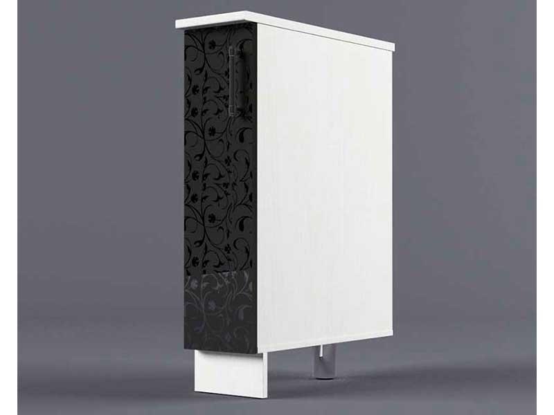 Шкаф напольный Н200 1дв бутылочница 850х200х600 Черные цветы